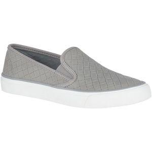 Sperry NWOB Grey Suede Seaside Emboss Weave Shoes